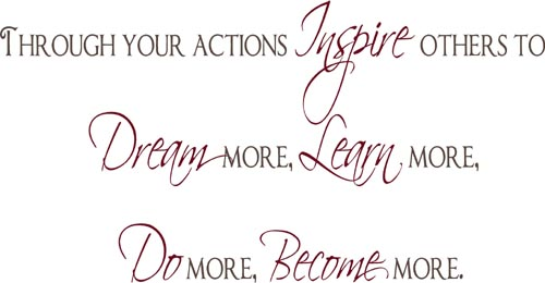 Through Your Actions   Wall Decals
