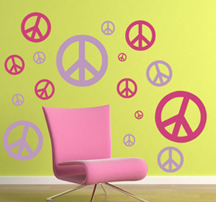 Peace Sign Pack Wall Decal