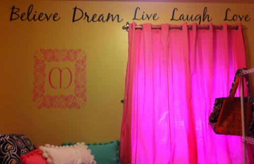 Believe Love Dream Wall Decal