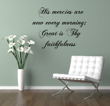 His Mercies Wall Decal