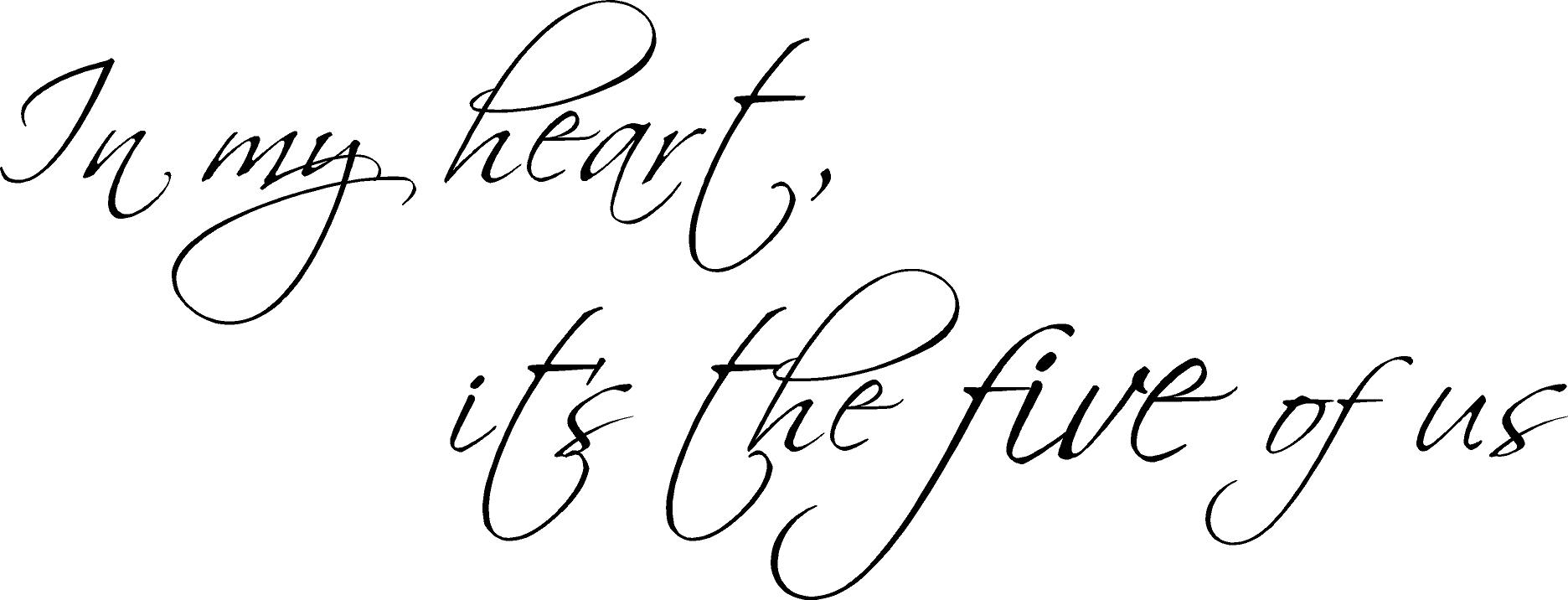 In My Heart | Wall Decal