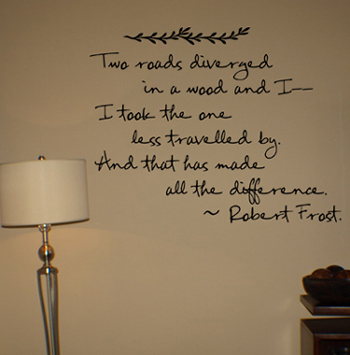 Two Roads Diverged | Wall Decals