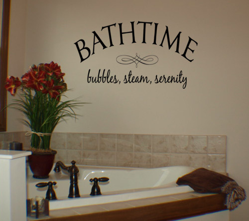 Bathroom rules bath for Bathroom wall decor quotes
