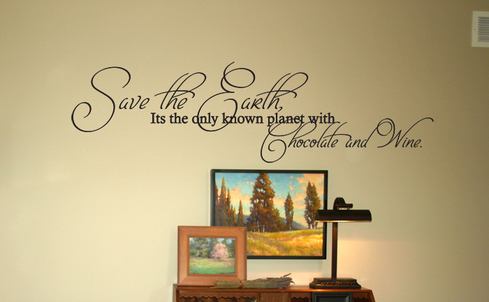 Chocolate & Wine Wall Decal