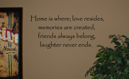 Love Memories Friends Laughter Wall Decal