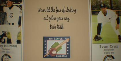 Babe Ruth Striking Out | Wall Decals