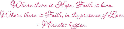 Miracles Happen | Wall Decals