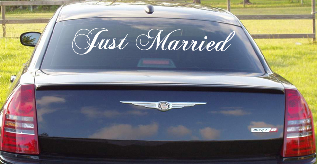 Just Married Decal