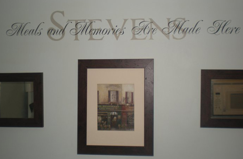 Meals & Memories Wall Decal