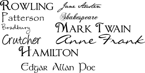 Authors Wall Decal