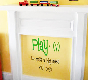 Play Definition Wall Decals