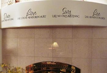 Dance Love Sing Live-Script Wall Decal