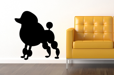 Poodle Wall Decal