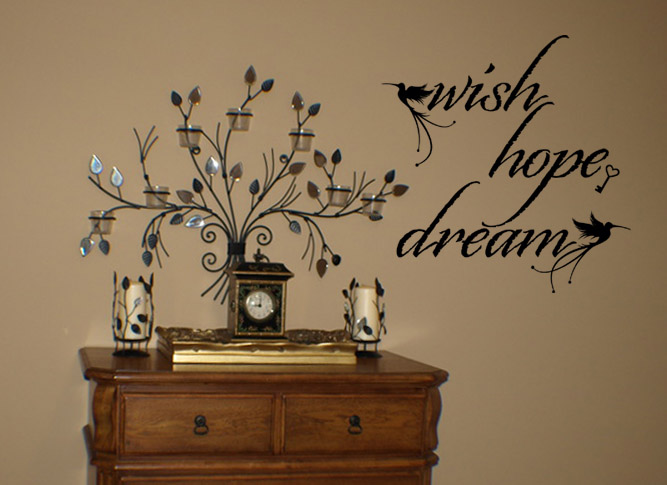 Wish Hope Dream | Wall Decals