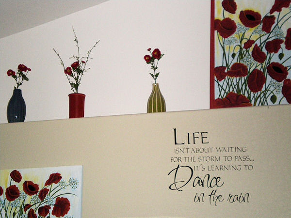 Dance in the Rain - Script Wall Decal