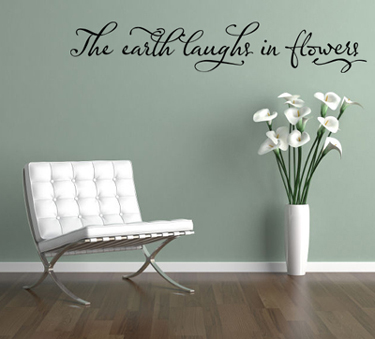 Earth Laughs Wall Decal