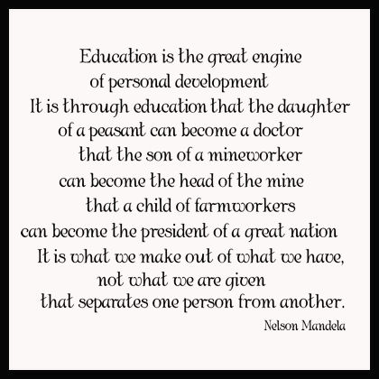Education Is The Great Engine Wall Decals
