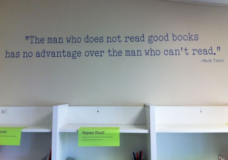 The Man Who Does Not Read Wall Decals