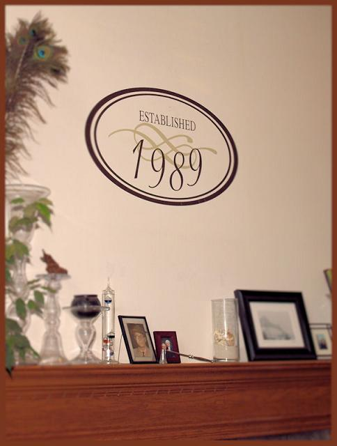 Established Year Wall Decal