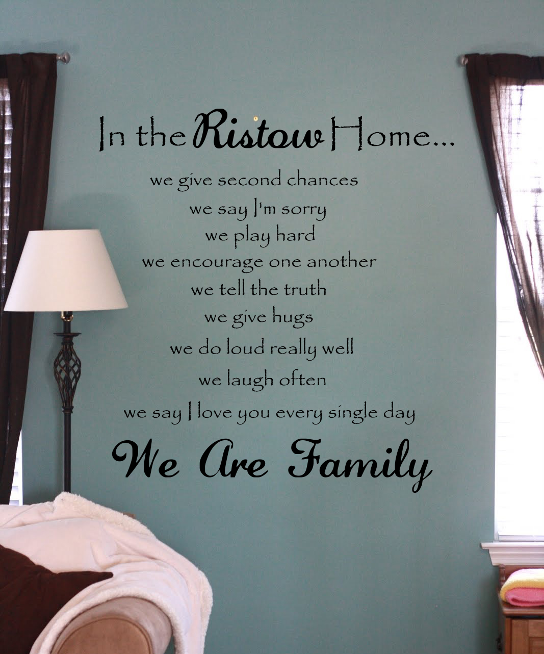 In The Name Home We Wall Decal