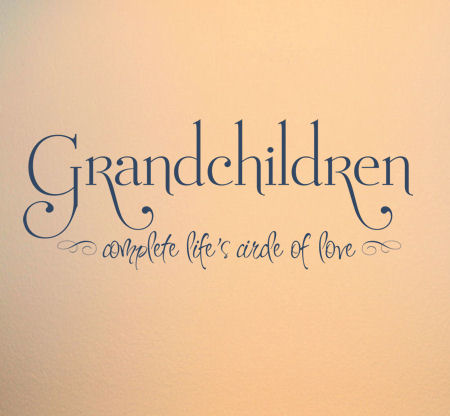Grandchildren Complete Life's Circle Wall Decals