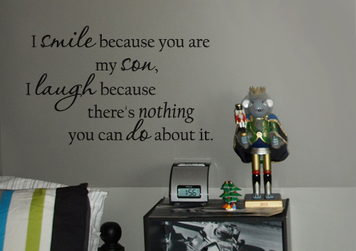Smile Laugh Because Family Wall Decal