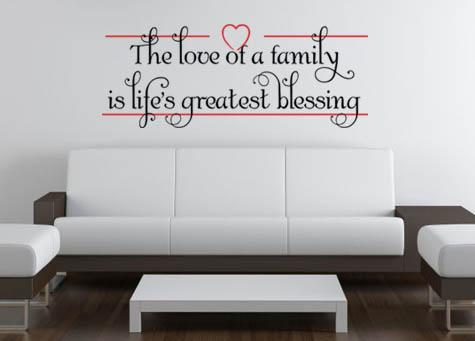 Love Of Family Life's Blessings | Wall Decals