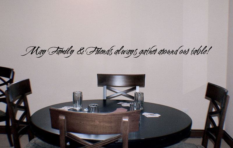 Friends Family Gather Table Wall Decal