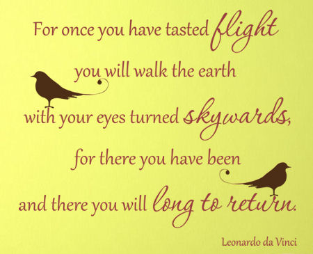 Tasted Flight Leonardo Da Vinci  Wall Decals