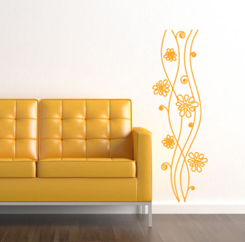 Flower Tower Wall Decal