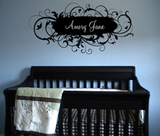 Fancy Name Personalized Wall Decal