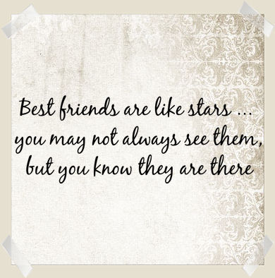 Best Friends Are Like Stars Wall Decals