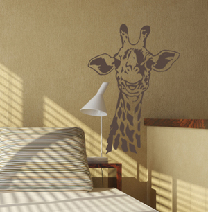 Smiling Giraffe Wall Decal