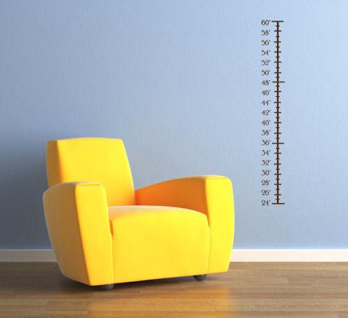 Plain Height Chart Wall Decals