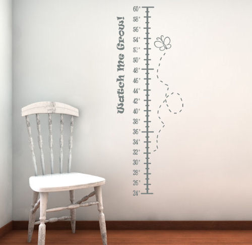 Watch Me Grow Height Chart Wall Decals