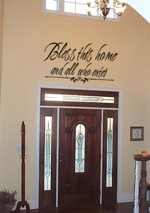 Bless Home & All Who Enter Wall Decal