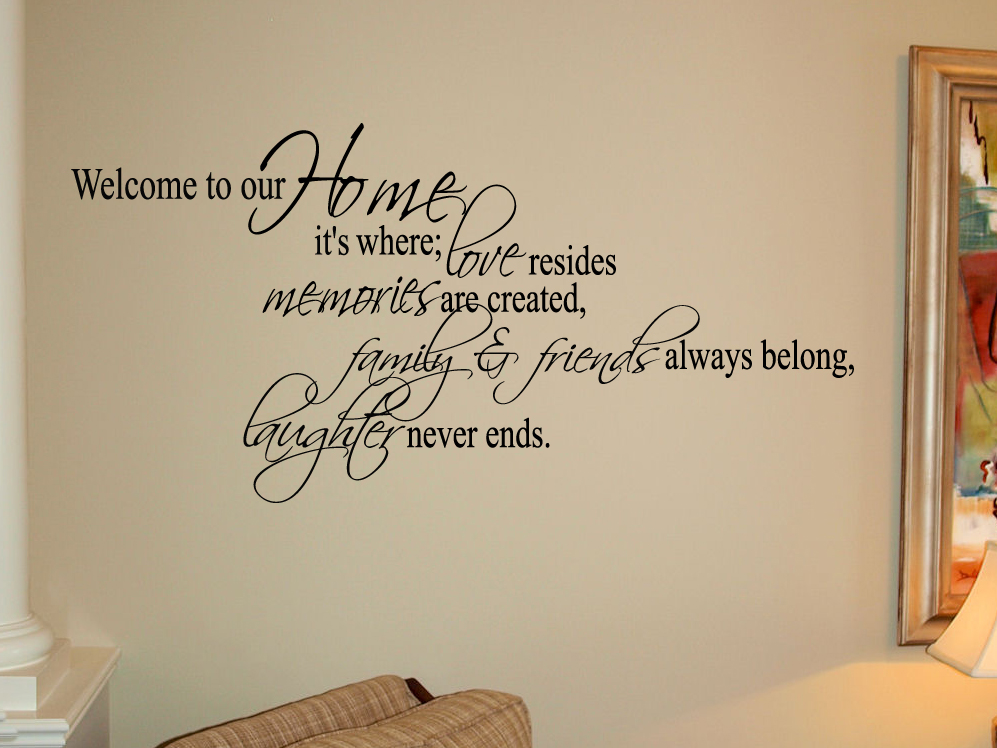 Home Is Where Friends & Family Wall Decal