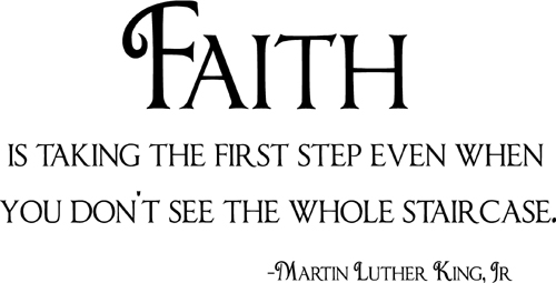 Faith Martin Luther King | Wall Decals