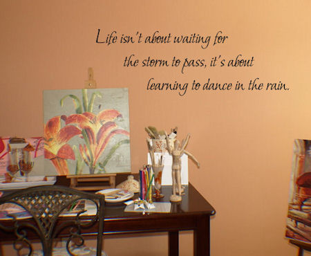 Learning To Dance Rain Wall Decal