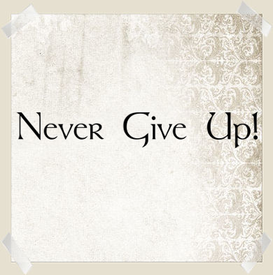 Never Give Up | Wall Decals