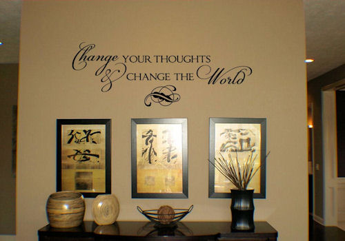 Change Your Thoughts... Wall Decal