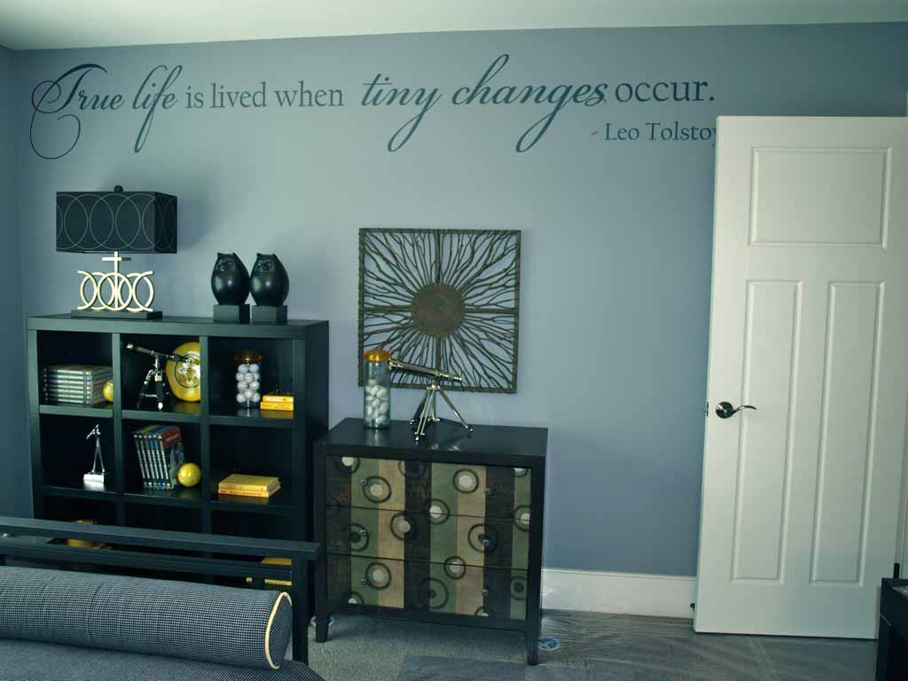 True Life Tiny Changes Occur Wall Decal
