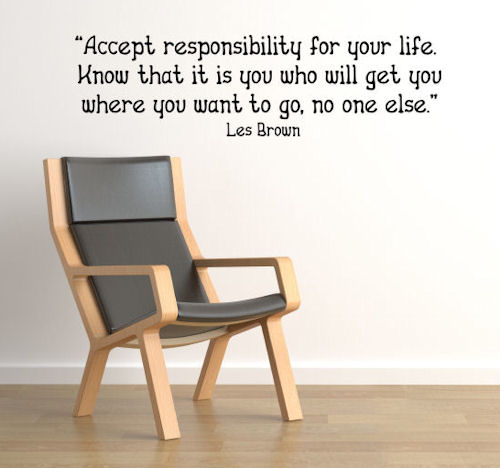 Accept Responsibility Wall Decals