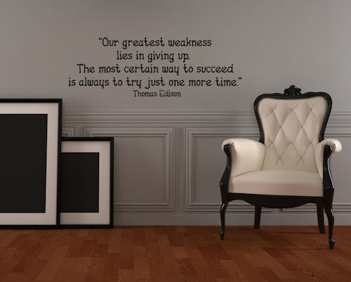 Try One More Time Wall Decals