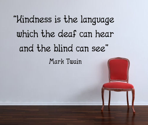 Kindness Language Wall Decal