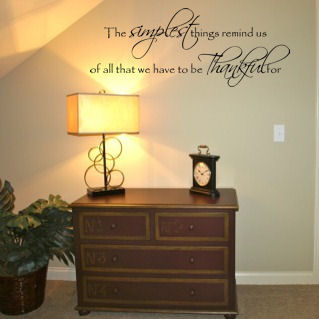 The Simplest Things Thankful For Wall Decals