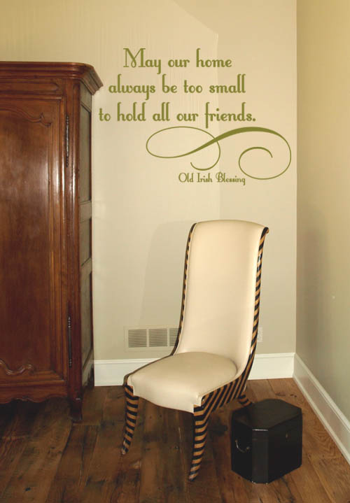 May Our Home Wall Decal