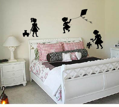 Little Girls Playing Pack Wall Decal