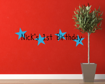 Boy Birthday Wall Decal