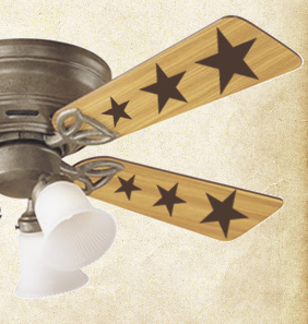 Ceiling Fan Stars Wall Decal